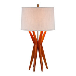 Lamps Plus - Contemporary Conrad Modern Wood Table Lamp - I love the angled wood base of this handsome table lamp. It comes complete with a pull chain for a true vintage experience.