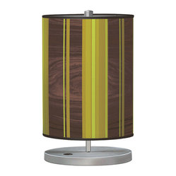 Vertical Stripey 2 Cylinder Table Lamp