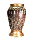 Cultural Elements - Large Decorative Vase - Unmistakably opulent, this large Terra-cotta vase is inspired by the romance of palaces and forts of Rajasthan.