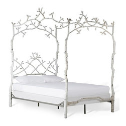 FOREST DREAMS BED - Experience a whimsical and lovely state of mind as you are embraced by the enchanted scene of Corsican's Forest Dreams Bed.