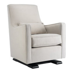 Modern Luca Glider Chair - I love the shape of this glider, and that lumbar pillow is the perfect size!
