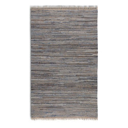 Uttermost - Uttermost Braymer Transitional Hand Woven Rug X-5-55017 - Hand woven rescued denim and natural jute. This rug is not recommended for high traffic areas.