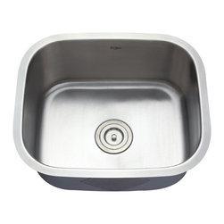 Kraus - Kraus KBU11 20 inch Undermount Single Bowl 16 Gauge Stainless Steel Kitchen Sink - Add an elegant touch to your kitchen with a unique and versatile undermount sink from Kraus