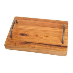 Europe 2 You - Farmhouse Cutting Board - Made from reclaimed 19th Century wood and hand finished with organic orange oil, this solid piece of hardwood makes a perfect addition to any kitchen. Side handles allow easy portability for serving. (ETY)