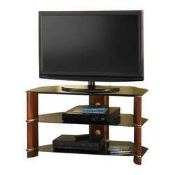 Bush - Bush Segments Wood Corner TV Stand in Rosebud Cherry - Bush - TV Stands - VS1154203 -   Bush Signature is a line of RTA (ready to assemble) furniture that emphasizes quality. You will find pieces in entertainment storage and home office that will combine to create the perfect living or working space. With a wide range of colors styles and configurations solutions to your needs can be found in Bush Signature.  The Bush Segments Collection's features entertainment furniture that are simple and versatile.  Features: