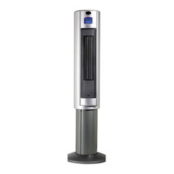 "Sunpentown - Pedestal Ceramic Heater - This sophisticated 34"" tall Digital Ceramic Pedestal Heater is the perfect addition to your home during those cold winter months. The elevated design, powerful 1500W heating and 70 oscillation distributes warm air throughout the entire room. Ceramic heat offers soothing warmth and the safety of a low surface temperature. Features Ionizer, LCD display and remote. Space saving 11"" footprint, remote control and Auto-Thermostat boosts your comfort level."