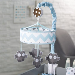 My Baby Sam - My Baby Sam Aqua Chevron Mobile Multicolor - MB171 - Shop for Mobiles from Hayneedle.com! Who who who wouldn't love to fall asleep looking at happy owl friends with the My Baby Sam Aqua Chevron Mobile. The sweet look of this mobile is sure to lull your little one to dreamland. Place it at baby's feet for best viewing. Part of the Aqua Chevron collection.About My Baby Sam Inc.My Baby Sam was dreamed up by mom-of-three Tori Swaim in 2001. My Baby Sam provides a fun and diverse selection of baby bedding and kids room decor at an affordable price. With their bedding nursery and kids decor letters and baby gifts My Baby Sam products will help you create a dreamy nursery or your child s first big-kid room.