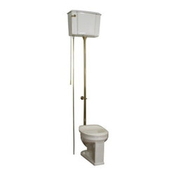 Barclay - 2-413WB Victoria High Tank Toilet  with 1.6 GPF Flush  White Vitreous China Cons - The Victoria high tank toilet features a round front 16 gallon per flush and a 15 bowl height The toilet seat is not included