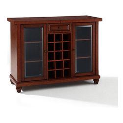 "Crosley - Cambridge Sliding Top Bar Cabinet - Dimensions: 20"" L x 64"" W x 36"" H"