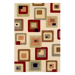 "Momeni Rug - Momeni Rug Elements 9'6"" x 13'6"" EL-10 Ivory ELEMTEL-10IVY96D6 - The Elements Collection epitomizes glamorous contemporary living. Brilliant colors and modern patterns combine to create these one of a kind, hand finished rugs. A wide range of colors and styles makes the Elements Collection the perfect accent for the home with a dynamic, contemporary edge."