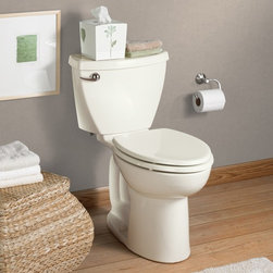 """American Standard Cadet 3 Right Height Elongated Toilet 10"""" Rough - Smarter design for higher performance and fewer clogs – all at a great price. The Cadet® 3 series toilets come in a variety of styles; one piece and two piece models, elongated and round front bowls, right height and compact versions and even water efficient models that flush on just 1.28 gallons per flush. The Cadet 3 is a hard working versatile series with superior performance."""