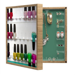DENY Designs - Bird Wanna Whistle Nail Polish BlingBox Petite - Handcrafted from 100% sustainable, eco-friendly flat grain Amber Bamboo, DENY Designs BlingBox Petite measures approximately 15 x 15 x 3 and has an exterior matte cover showcasing the artwork of your choice, with a coordinating matte color on the interior. Additionally, the BlingBox Petite includes interior built-in clear, acrylic hooks that hold over 120 pieces of jewelry! Doubling as both art and an organized hanging jewelry box, It's bound to be the most functional (and most talked about) piece of wall art in your home! Custom made in the USA for every order.
