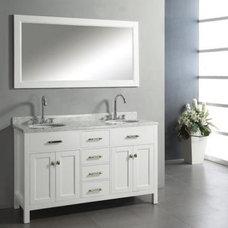 Virtu USA Caroline 60-in. Double Sink Bathroom Vanity - White