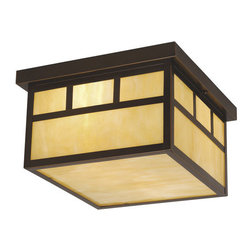 Vaxcel Lighting - Vaxcel Lighting OF37211 Mission 2 Light Flush Mount Outdoor Ceiling Fixture - Features: