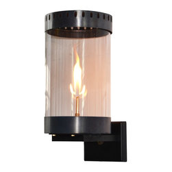 The CopperSmith - Orlando Gas Lantern by The CopperSmith OR-18, Graphite, Natural Gas - New fresh contemporary design in Gas by The CopperSMith.  Orlando is available is 2 finishes, Nickel and Graphite, and in Natural Gas and Propane.