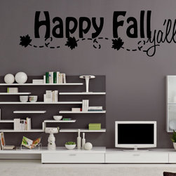 Happy Fall Vinyl Wall Decal hd028, Light Brown, 60 in. - Vinyl Wall Quotes are an awesome way to bring a room to life!