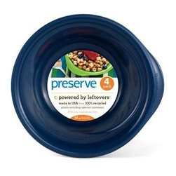 Preserve Everyday Bowls - Midnight Blue - Case Of 8 - 4 Packs - 16 Oz - Powered by Leftovers