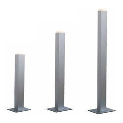 Gandia Blasco - Gandia Blasco Candleholder-Standing - Holder made of anodized aluminum. Available in five sizes. Candles and windbreaker included. Manufactured by Gandia Blasco in Spain. Price includes shipping to the USA.