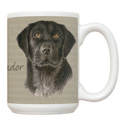 490-Black Lab Mug - 15 oz. Ceramic Mug. Dishwasher and microwave safe It has a large handle that's easy to hold.  Makes a great gift!