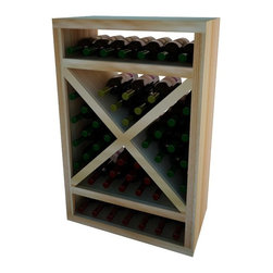 Wine Cellar Innovations - Solid Diamond Cube w/Trim; Vintner: Premium Redwood, Unstained - 4 Foot - The Vintner Series Solid Diamond Cube Wine Rack organizes wine bottles in an attractive, popular, and practical style. The decorative face trim adds to the sturdy appearance and is a finishing detail only previously offered on our top of the line custom racking. The Diamond Cube Face Trim needs to be cut to fit on site. Purchase two to stack on top of each other to maximize the height of your wine storage. Moldings and platforms sold separately. Assembly required.