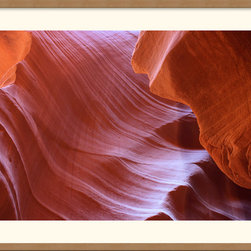 Amanti Art - Antelope Canyon Abstraction Framed Print by Andy Magee - Crafted from hundreds of thousands of years of erosion by wind and water, Antelope Canyon is a breathtaking instance of natural beauty.