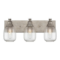 Savoy House - Orsay 3-Light Bath - The Savoy House Orsay collection, designed by Brian Thomas , combines vintage lighting inspirations with modern steel finishes and clear glass globes for an appealing industrial look.
