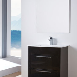 KATO 27 INCH BATHROOM VANITY. - Made in Spain. Available in stock. Free shipping within USA Continental.