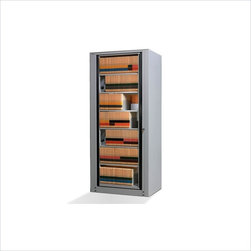 Mayline - Mayline ARC 7 Tier Starter Unit in Pebble Gray-Standard - Mayline - Storage Cabinets - ARC24827SPG - ARC Rotary File collection