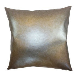 The Pillow Collection Kamden Plain Pillow - Metallic - Show off your love for all things shiny with the stylish The Pillow Collection Kamden Plain Pillow – Metallic. Made of 100% vinyl, this fun square pillow comes with a plush feather-down insert. A clean knife-edge finish surrounds all four sides and a hidden zipper is included for easy removal. Dry clean only.About The Pillow CollectionIdentical twin brothers Adam and Kyle started The Pillow Collection with a simple objective. They wanted to create an extensive selection of beautiful and affordable throw pillows. Their father is a renowned interior designer and they developed a deep appreciation of style from him. They hand select all fabrics to find the perfect cottons, linens, damasks, and silks in a variety of colors, patterns, and designs. Standard features include hidden full-length zippers and luxurious high polyester fiber or down blended inserts. At The Pillow Collection, they know that a throw pillow makes a room.