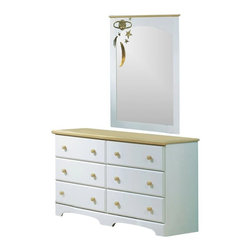 South Shore - South Shore Newbury Collection Double Dresser and Mirror Set in White - South Shore - Dressers - 3263027PKG - South Shore Newbury Collection Double Dresser in White