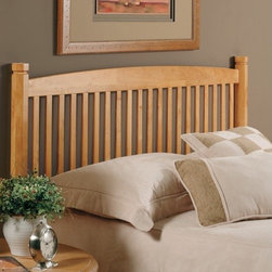 Hillsdale - Slat Headboard - The Oak Tree headboard has a classic design and features a light finish that blends well with other designs. Its casual styling brings warmth to any bedroom. Features: -2 Holes to screw in to standard headboard frame (hardware not included).-Asian solid hardwood and birch veneer construction.-Light-Medium oak finish.-Recommended care: Dust frequently using a clean, specially treated dusting cloth that will attract and hold dust particles. Do not use liquid or abrasive cleaners as they may damage the finish.-Distressed: No.Dimensions: -Twin: 42'' H x 39'' W x 3 1/8'' D.-Full / Queen: 42'' H x 60'' W x 3 1/8'' D.Assembly: -Assembly Required: Yes.