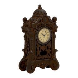 Brown Polished Wonderful Ceramic Table Clock - Description: