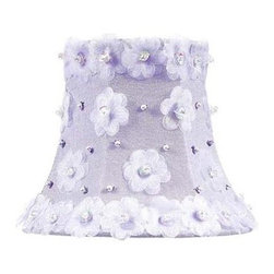 Jubilee Collection - Chandelier Shade - Petal Flower - Lavender - Material: silk, metal. 3 x 5 x 4 in.