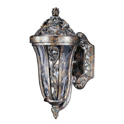 Maxim Lighting - Maxim Lighting Montecito VX Traditional Outdoor Wall Sconce X-RTGW24104 - This Maxim Lighting Montecito VX Traditional 4-Light Outdoor Wall Sconce is a dramatic and eye-catching piece. You can't help but notice the intricately designed frame in a beautiful, tortoise finish with panels of water glass. This one-light piece is made with Vivex, a non-corrosive, UV resistant material that makes this an exceptionally durable light fixture.