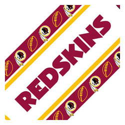 Sports Coverage - NFL Washington Redskins Peel-n-Stick Wall Border Roll - Features: