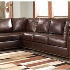 Traditional Sectional Sofas Brown Leather Sectional Sofa