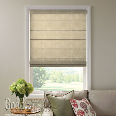 Good Housekeeping - Good Housekeeping Roman Shades: Linens Light Filtering - Give your decor a casual but well-appointed upgrade with Good Housekeeping roman shades.  Get the perfect shade with custom sizes, designer upgrades and optional features such as cordless lift for an uncluttered look and a child-safe choice.