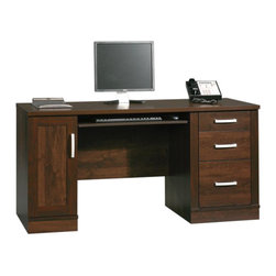 Sauder - Sauder Office Port Credenza in Dark Alder - Sauder - Computer Desks - 408291 - Sure, lots of office and home furnishing manufacturers can help you create an organized, comfortable and fashionable place to live. But Sauder provides a special kind of furniture that is practical and affordable, as well as attractive and enduring. As North America's leading producer of ready-to-assemble furniture, we offer more than 500 items that have won national design awards and generated thousands of letters of gratitude from satisfied consumers.