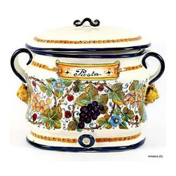 Artistica - Hand Made in Italy - Toscana: Oval Canister ''Pasta'' - Toscana:
