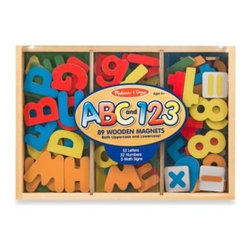 Melissa And Doug - Melissa & Doug Letters and Numbers Magnetic Bundle - Hours of learning fun await with this magnetic letters and numbers bundle set. Ideal for letter and number recognition, matching and stenciling.