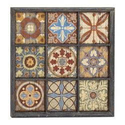 Elegant and Vibrant Wood Wall Plaque - Description: