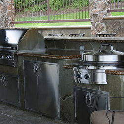 Outdoor Kitchen Installations with Evo Circular Cooktop - Evo Affinity 30G Gas Outdoor Circular Cooktop