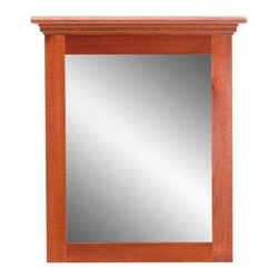 "Renovators Supply - Mirrors Cherry Hardwood Portrait Mirror - Hardwood mirror with a rich cherry finish perfectly matches our hardwood office collection.  26 1/2"" wide x 31 3/4"" high x 6 1/4"" deep."