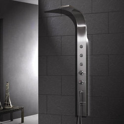 Ariel Bath - Ariel A303 Stainless Steel Shower Panel - Ariel Shower Panels are fully loaded with Jets for Full Body Massage, Handheld and Rainfall Showerhead for Ultimate Experiences to greatly increase your therapeutic experience.