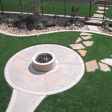 Mediterranean Fire Pits by Custom Homes by Miller