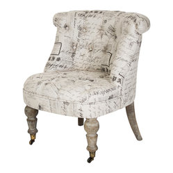 Amelie Slipper Chair - Natural/Print