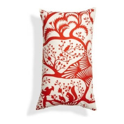 5 Surry Lane - Duralee Thomas Paul Red Woodland Lumbar Pillow - This pillow is like red lipstick for your space: It's the finishing touch. The bold and dramatic accent will make your bed or sofa come alive. And when you need a quiet moment, it reverses to solid.