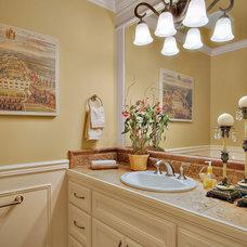 Traditional Powder Room by John F Buchan Homes