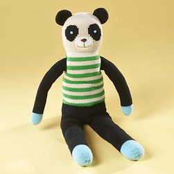 blabla® Bamboo Panda - This toy makes a great first plush toy. Super soft, this panda is handcrafted with 100-percent cotton yarn.