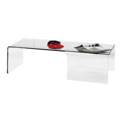 ZUO - Zuo Sabbatical Coffee Table - ZUO - Coffee Tables - 404123 - The Sabbatical coffee table is elegantly formed from clear tempered glass. The minimalistic design perfectly compliments many existing rooms.